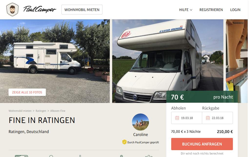 Wohnmobil von privat mieten: 3 Anbieter für Camper-Sharing im Vergleich