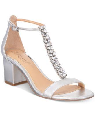 0f7183caa97 Jewel Badgley Mischka Lindsey Block-Heel Evening Sandals