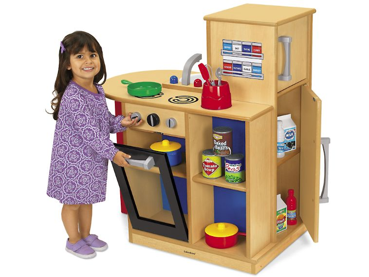 Space-Saver Play Kitchen - I have a small space, this would be cute.