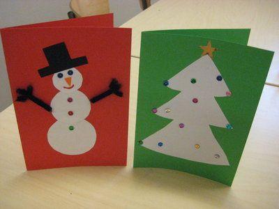 göra egna julkort pyssel