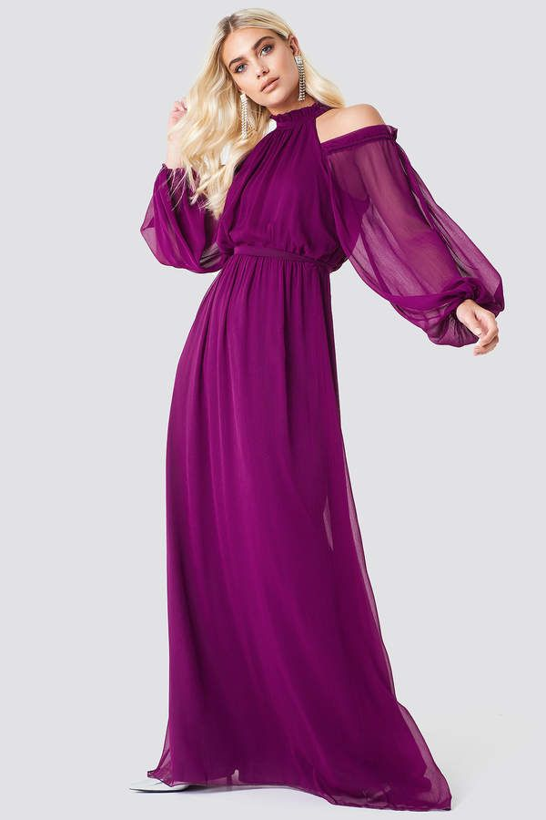 80001473ff7d3 Balloon Sleeve Maxi Dress | Products | Maxi dress with sleeves ...