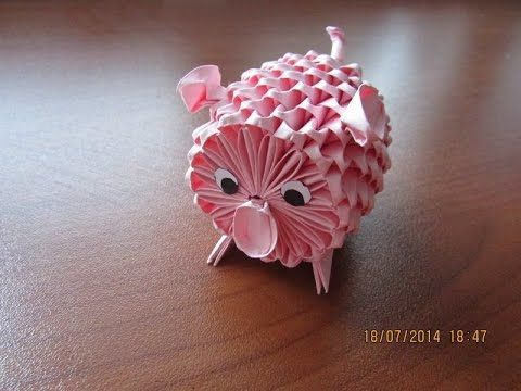 Photo of 3D Origami Piggy Tutorial