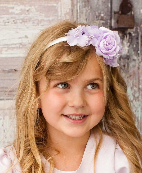 Items Similar To Flower Girl Headband Lavender Wedding Hair Accessories On Etsy