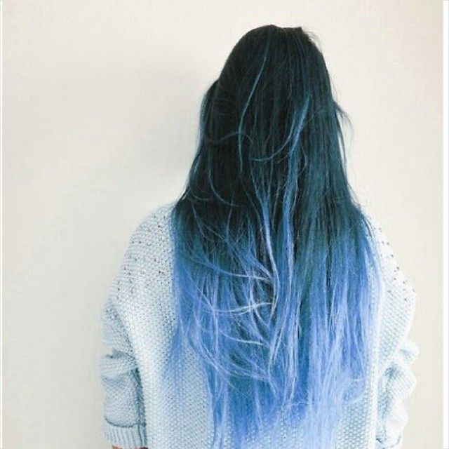 This Ombre Effect Could Be Achieved With Badboyblue Blue Ombre