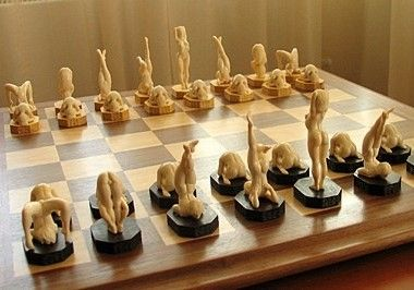 Erotic chess pieces