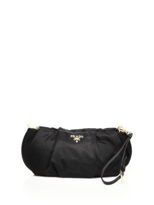 6f207571c54f2a PRADA Ruched Nylon Clutch. #prada #bags #shoulder bags #clutch #nylon  #leather #hand bags #