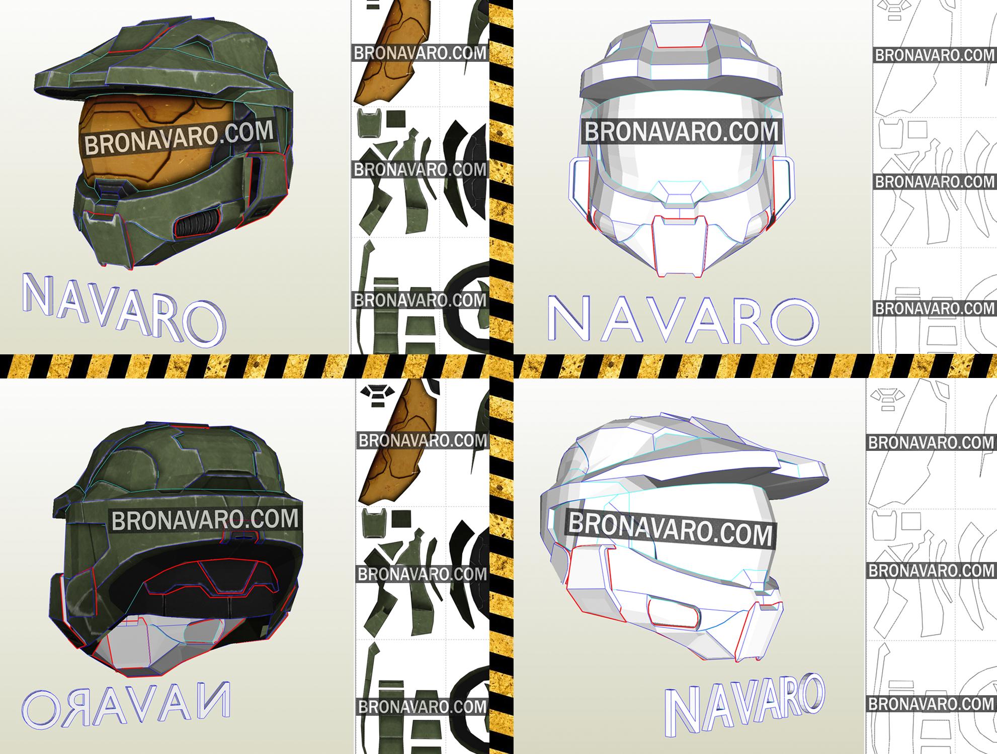 Master Chief Helmet Foam Template Halo 3 Cosplay Helmet Master Chief Helmet Pattern Halo 3 Helmet Pepakura Master Chief Cosplay Pepakura Helmet Halo Cosplay