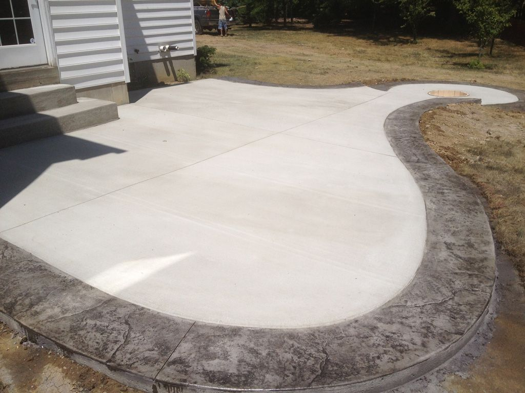 Concrete Patio With Stamped Border Google Search Our