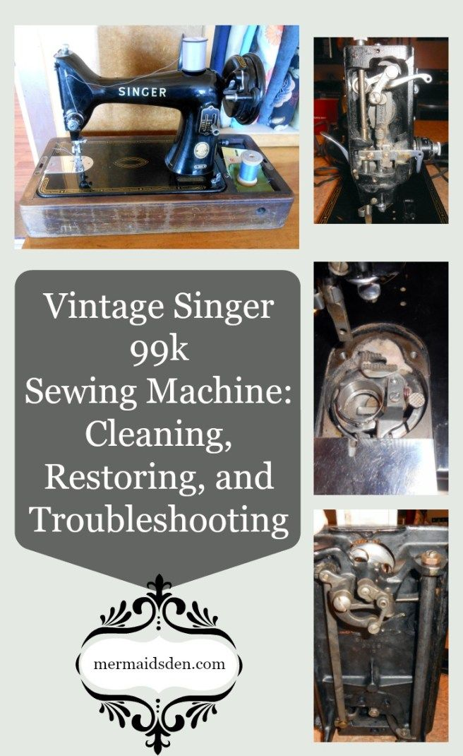 Vintage Singer 40k Sewing Machine Cleaning Restoring And Amazing Troubleshooting Singer Sewing Machine
