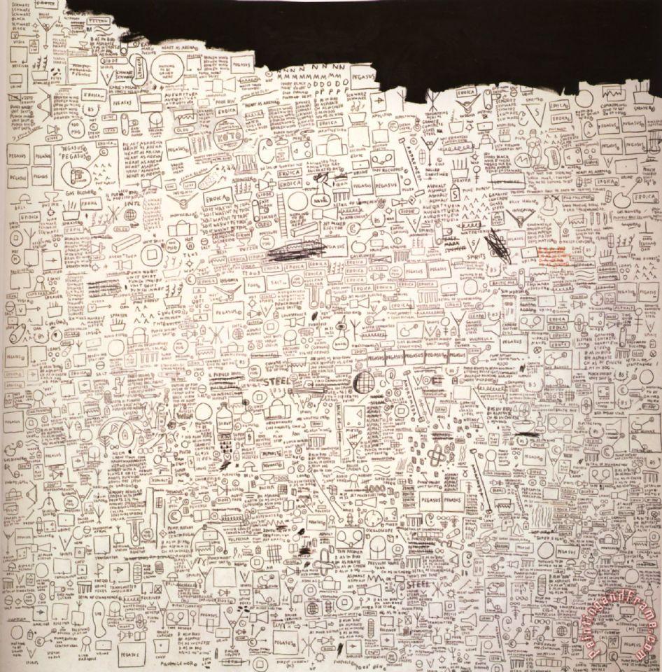 Jean-michel Basquiat Pegasus Art Print