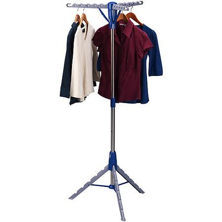 Clothes Drying Rack Walmart Enchanting Household Essentials 3Arm Free Standing Dryer  Walmart  Home Decorating Inspiration