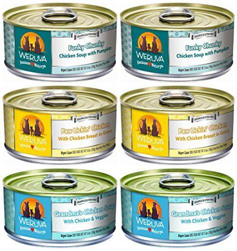 Weruva Grain-Free Canned Dog Food 3 Flavor Variety Bundle, 5.5 Ounces Each (6 CANS TOTAL) Weruva http://www.amazon.com/dp/B0147M2BTY/ref=cm_sw_r_pi_dp_osqTwb08APFT3
