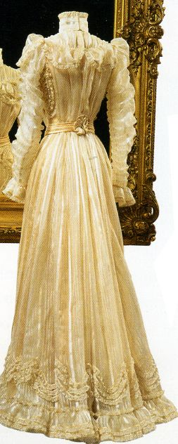 Many beautiful dresses owned by Empress Elisabeth as well as personal items