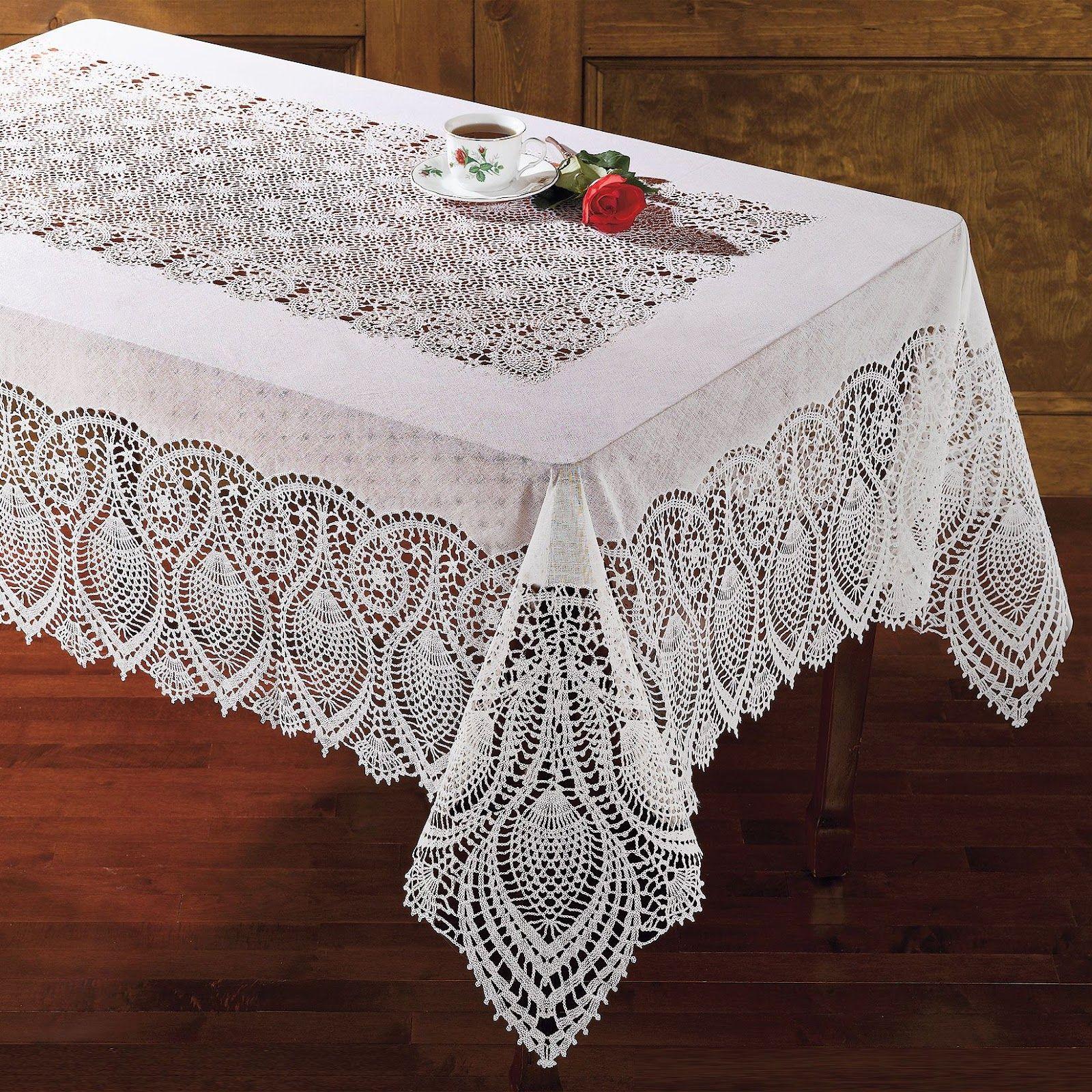 lace tablecloth Google Search Tea Anyone Pinterest