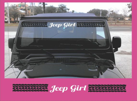 Jeep Windshield Banner Vinyl Decal Sticker by Shop317 on Etsy