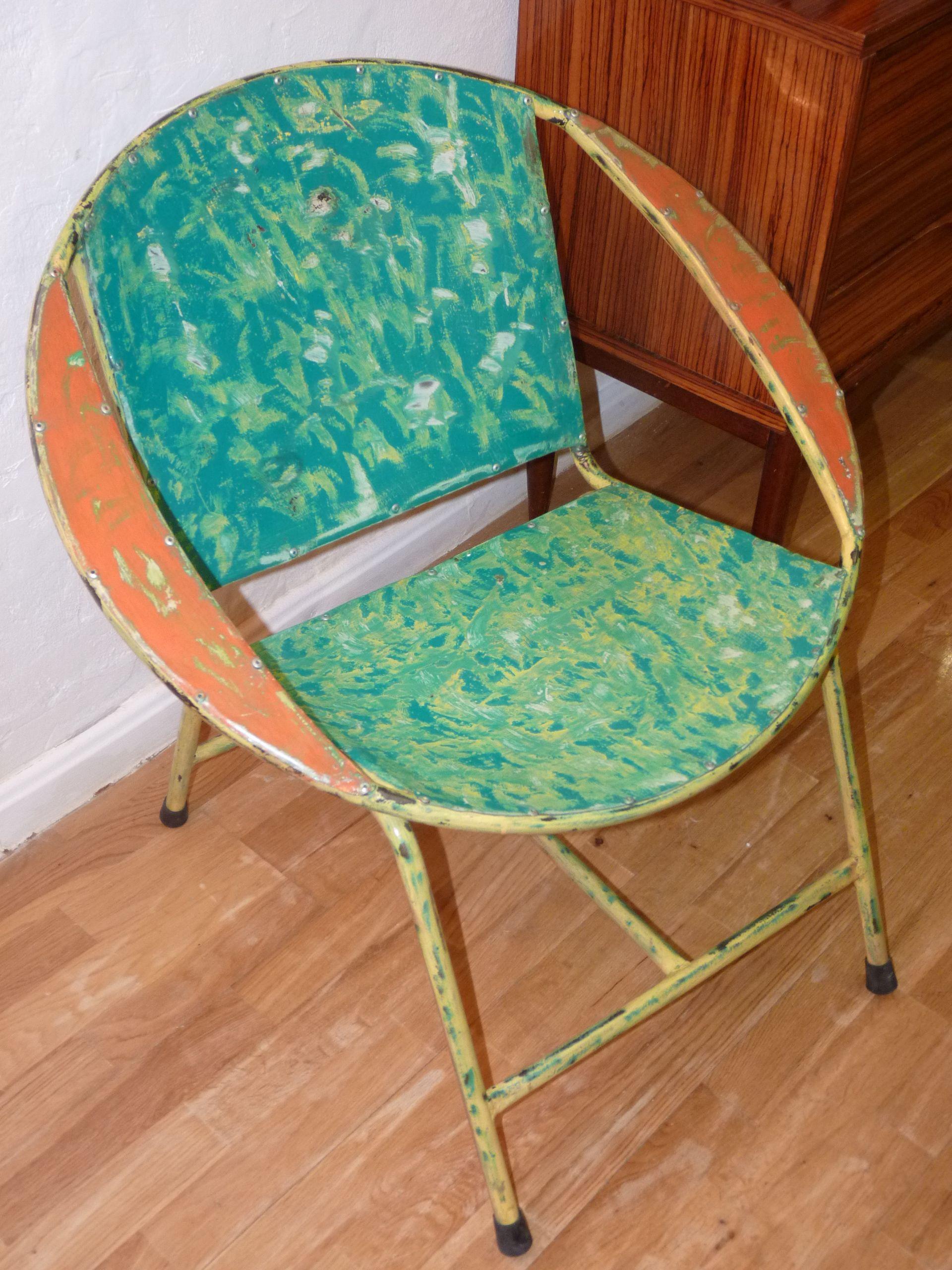 Butaca Realizada Con Bidones Reciclados Muebles Reciclados  # Muebles Bidones