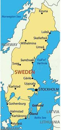 Sweden Facts Sheet For Children Passport To Culture Sweden - Map 0f sweden