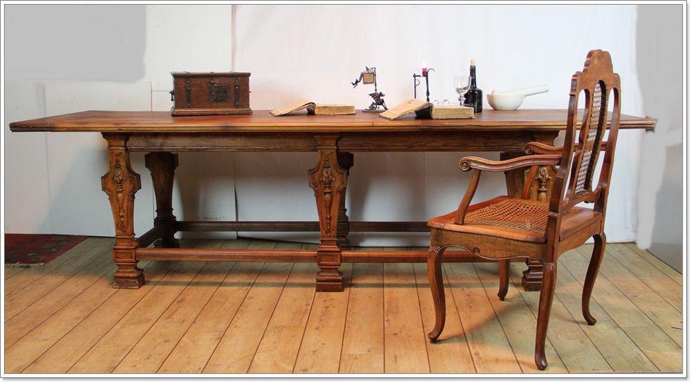Wohnzimmertisch Barock ~ Barock studierzimmer refektorium eiche tisch tafel louis seize