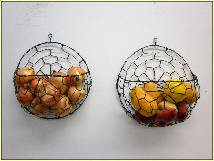 Canvas Of Wall Mounted Fruit Basket Inserts The Interior Stylishly Without Making The Table Stuffy Chicken Wire Crafts Baskets On Wall Fruit Basket