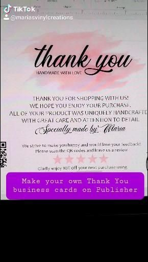 Make Your Own Thank You Cards Video In 2021 Thank You Cards Etsy Business Make Your Own
