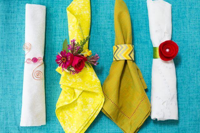 10 Ways To Make Napkin Rings