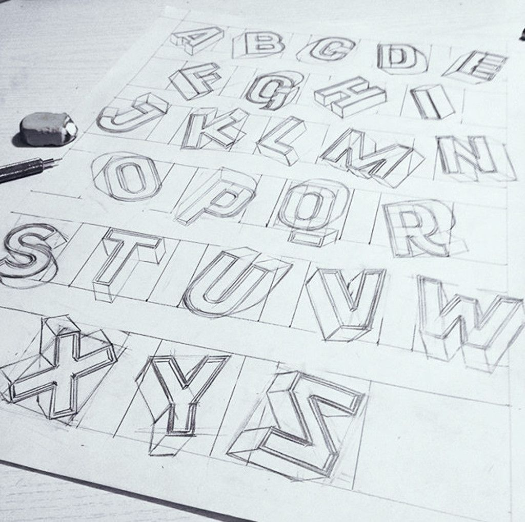 how to draw 3d block letters a z drawings inspiration