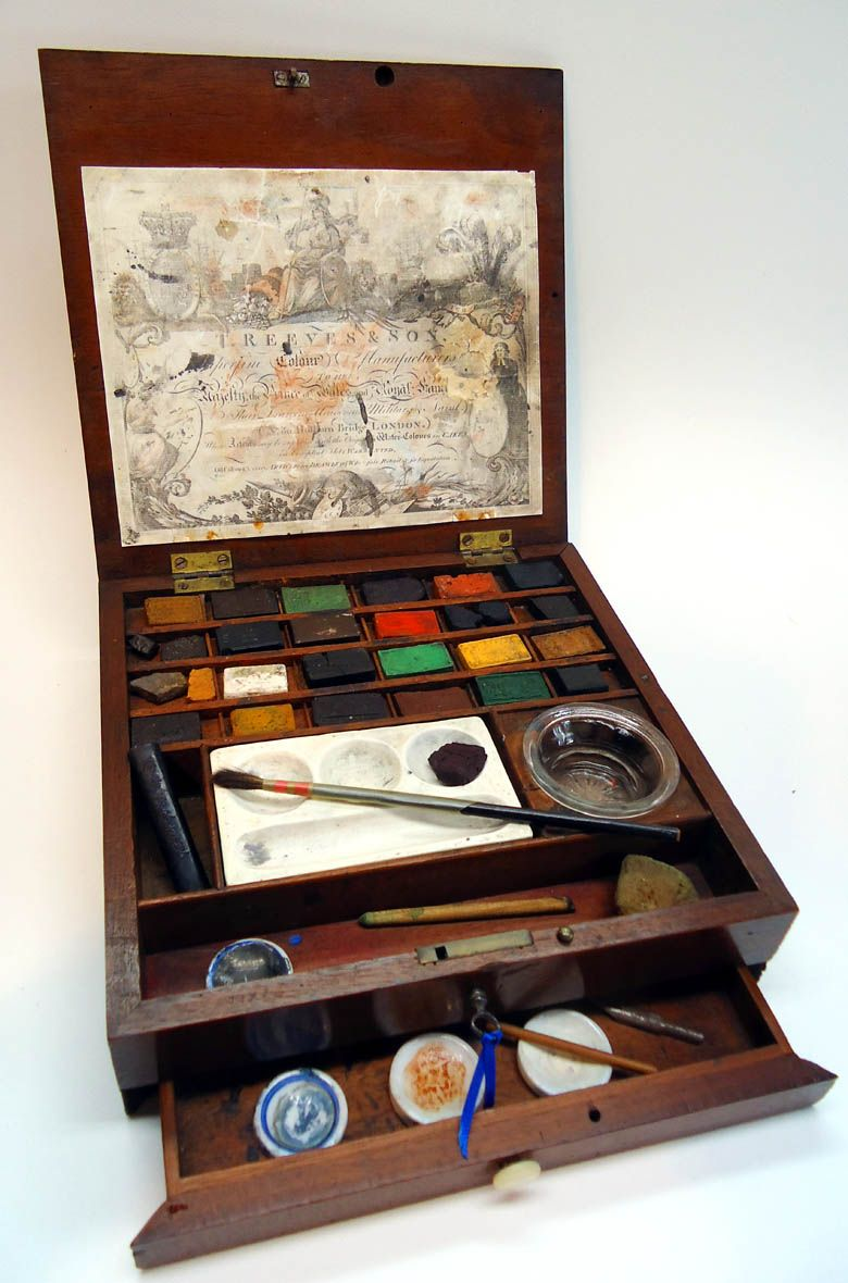 Thomas Reeves Son Watercolour Watercolor Paint Box Made From