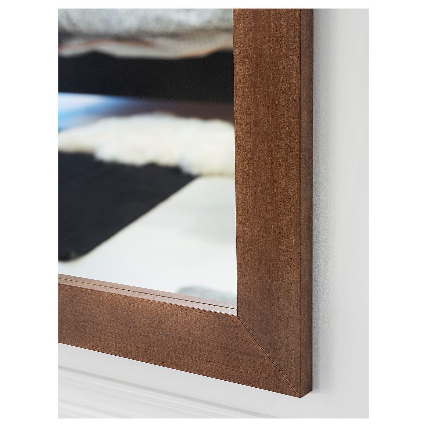 MONGSTAD Mirror brown stained ash veneer 35 7/8x51 1/8