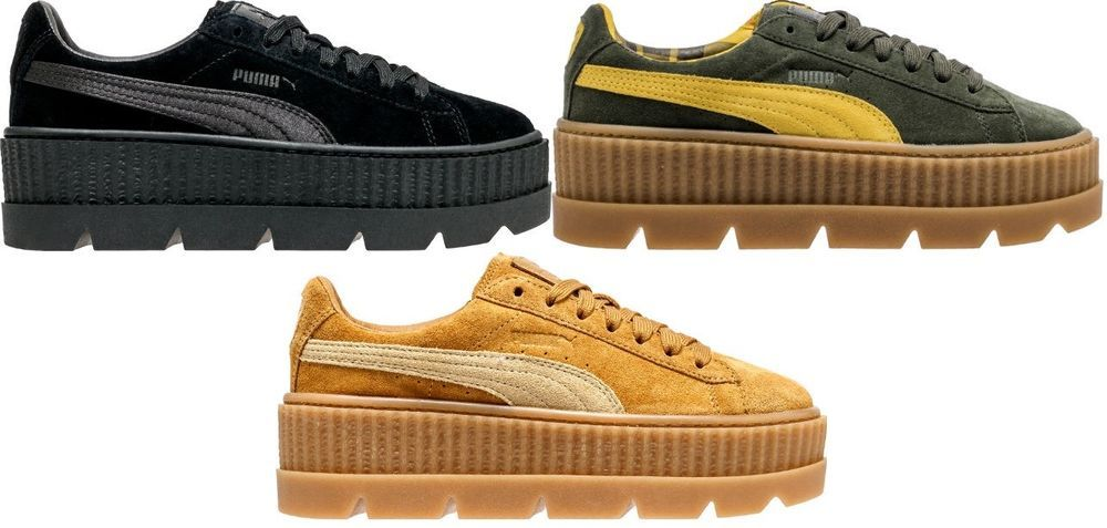sale retailer 4709b 15414 Details about New Women's PUMA Cleated Creeper Suede Fenty ...