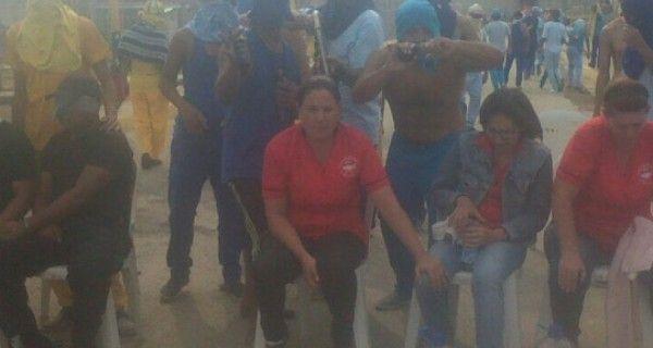 Reclusos del Centro Penitenciario David Viloria en Uribana, realizaron este viernes un motín para exigir la presencia de la ministra de Asuntos Penitenciar