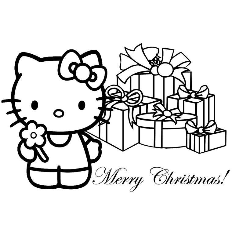 Coloriage Noel Hello Kitty Kleurplaten Hello Kitty Leuke Tekening