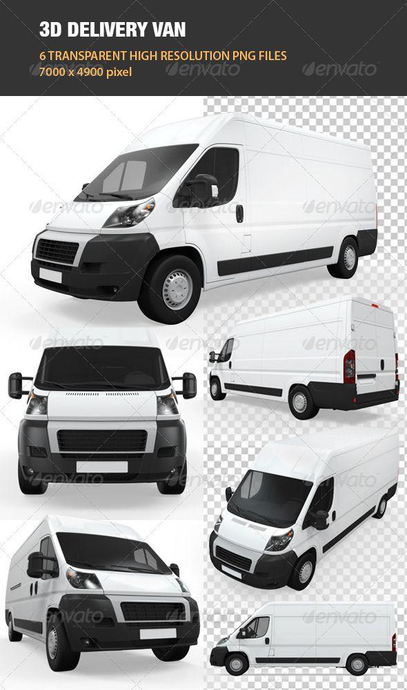 3d Delivery Van Graphics Design Ideas