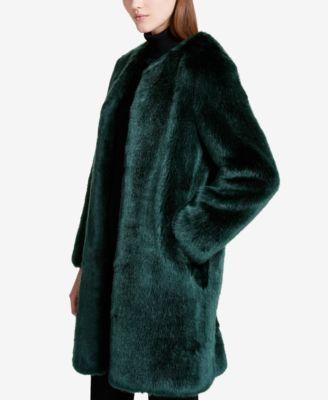 23101ed5e43 Calvin Klein Faux-Fur Coat - Green XL