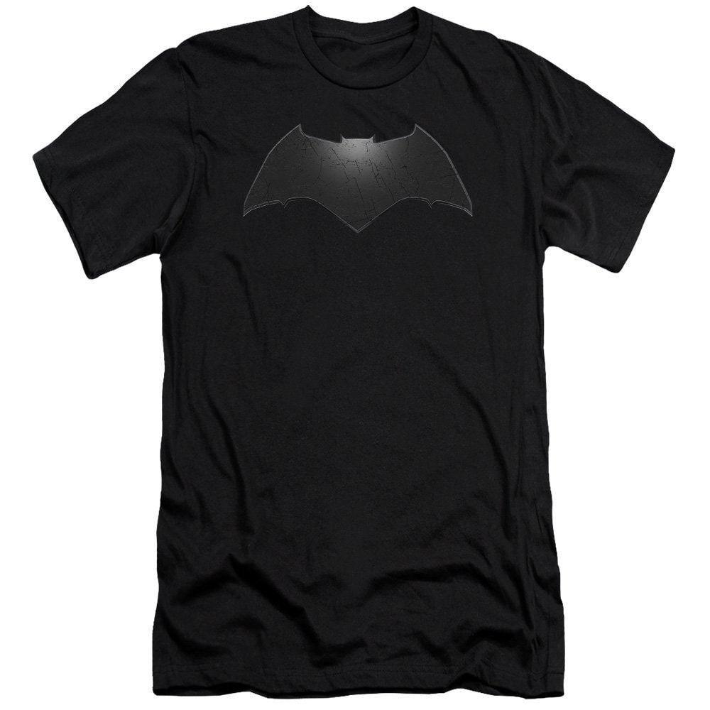 Batman V Superman Beveled Bat Logo Adult Slim Fit T-Shirt