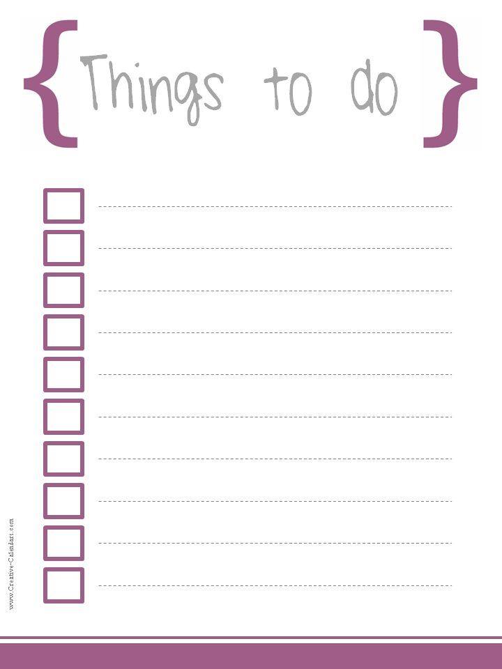 20 Free printable checklist templates to help you keep track of your - printable checklist template