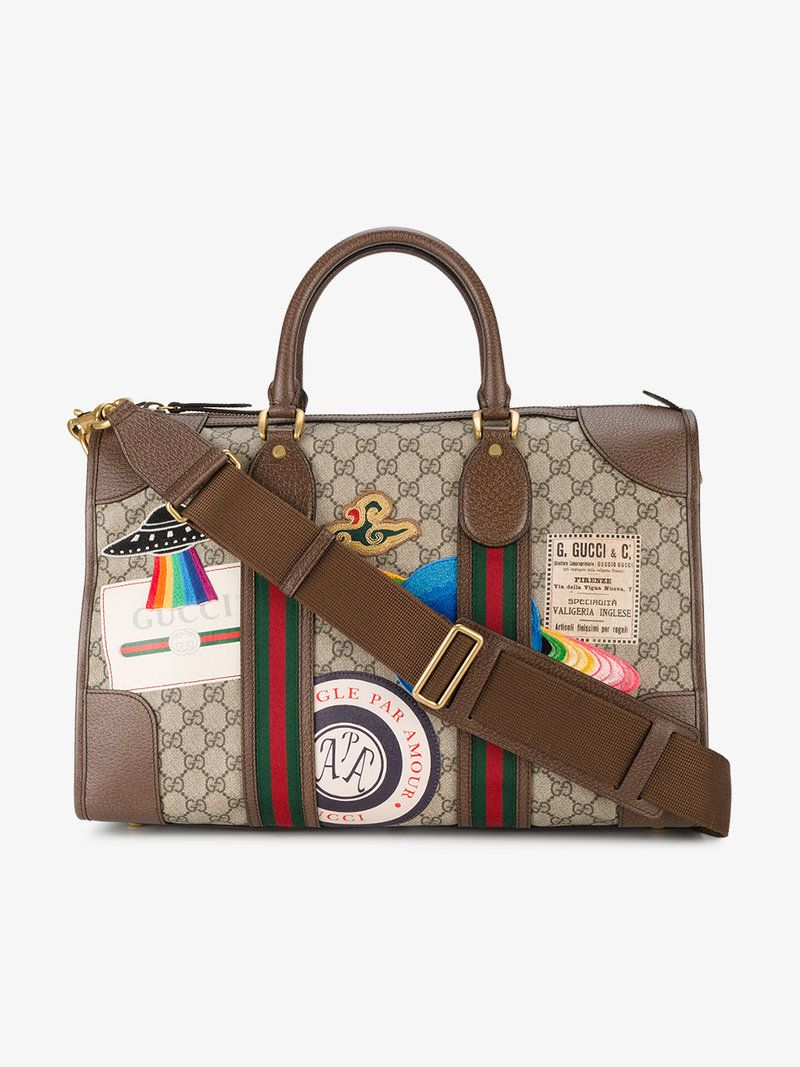 b1d009784f9 GUCCI GUCCI COURRIER SOFT GG SUPREME DUFFLE BAG.  gucci  bags  leather   lining  canvas  nylon  cotton