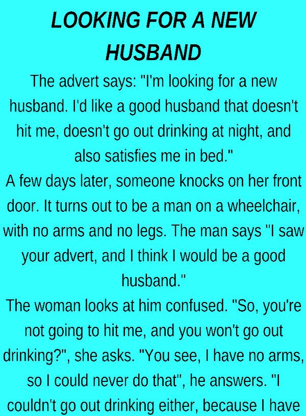 A New husband | LOL | Funny, Jokes, Funny jokes for adults