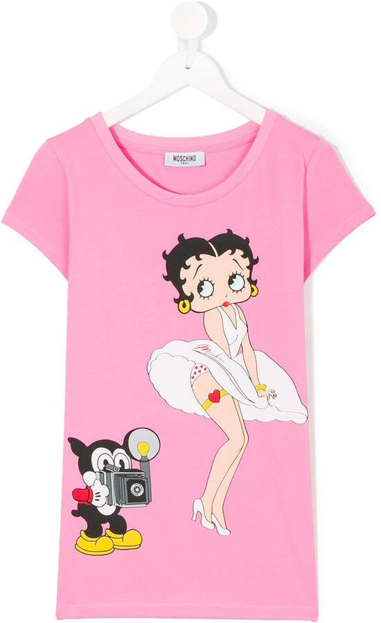 3d13dfc7 Moschino Kids Betty Boop print T-shirt   Products   Mens tops ...