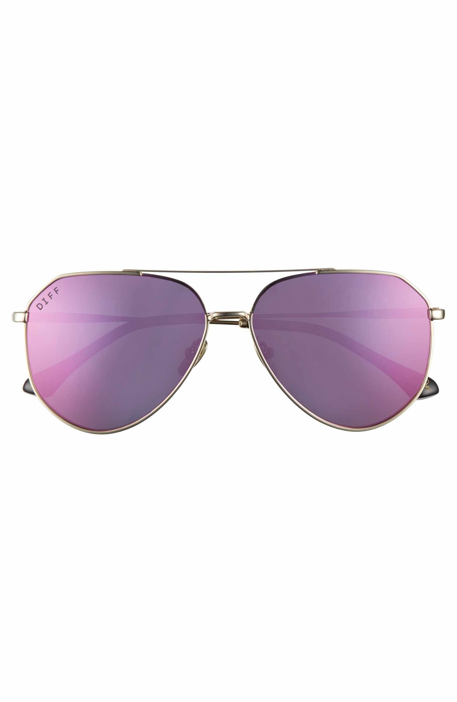 6dc9bd1dbd6ed Main Image - DIFF x Jessie James Decker Dash 61mm Polarized Aviator  Sunglasses