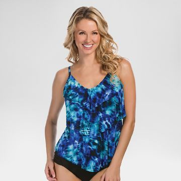 c08d737a450 Women's Tiered Printed Tankini Top - Aqua Green® you can get at ...