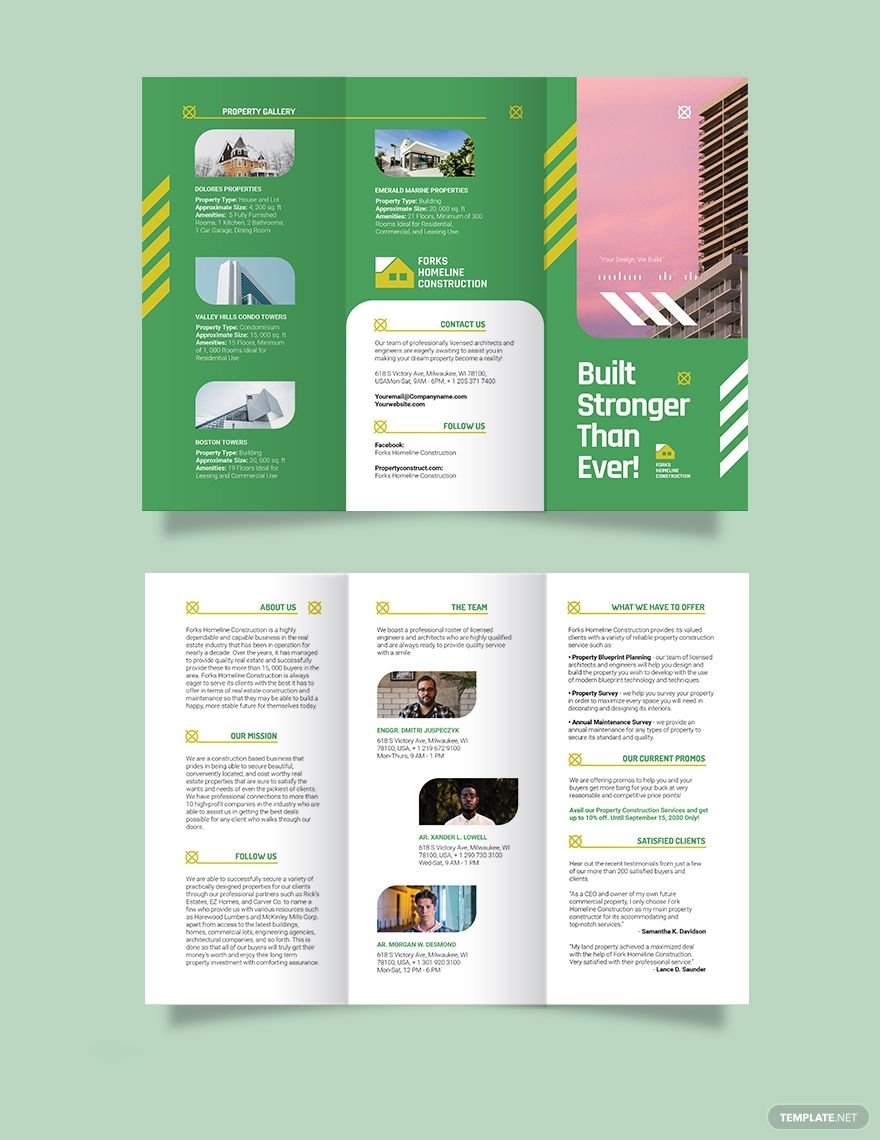 Construction Company Profile Templates In Word Format Company