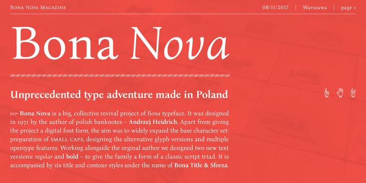 Bona Nova - Webfont & Desktop font « MyFonts   GRAPHIK//FONT