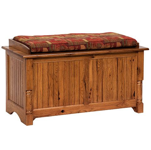 Pleasant Amish Made Solid Wood Palisade Blanket Chest Bench Blanket Machost Co Dining Chair Design Ideas Machostcouk