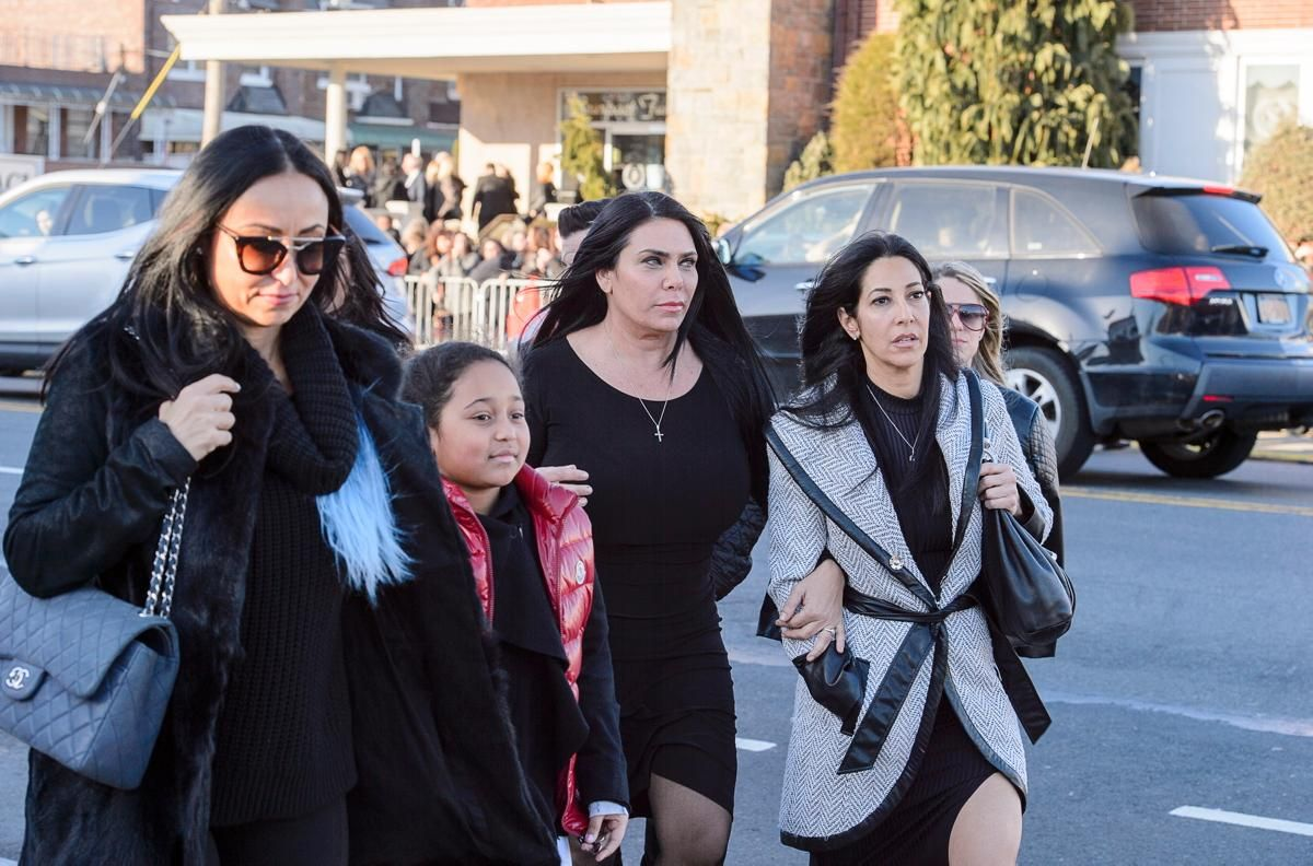 Mourners pay their respects to reality star 'Big Ang