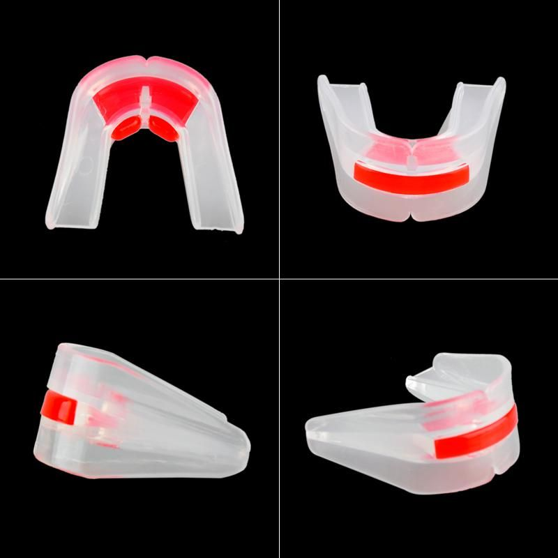 High Quality Outdoor Sports Silicone Double-sided Mouthguard Grinding Teeth