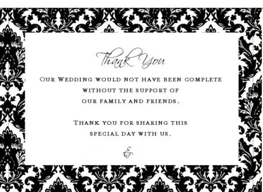 Bridal Shower Thank You Card Wording For Download – What to Write in Wedding Thank You Cards Sample