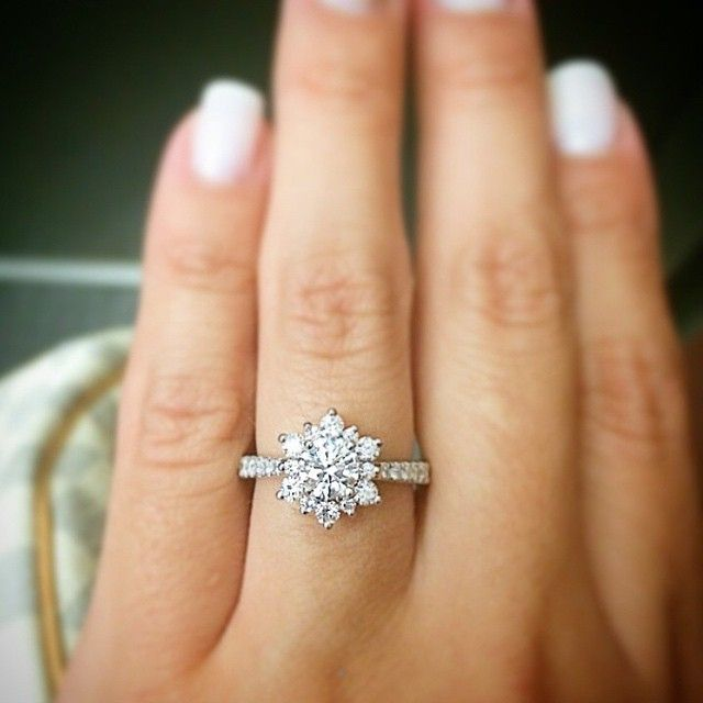 Hearts On Fire Delight Lady Di Diamond Engagement Ring Halo