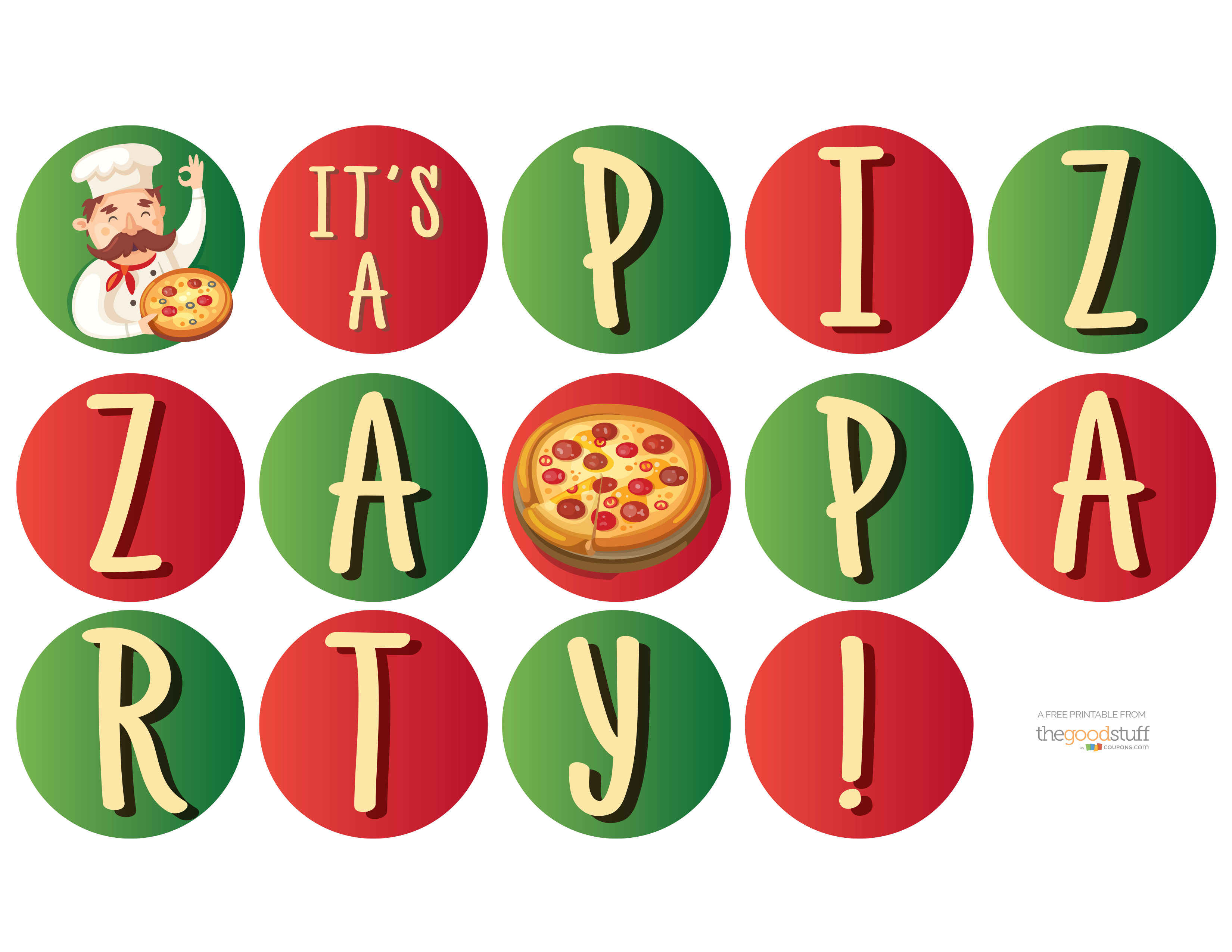 Hostess Helpers: Free Pizza Party Printables | Kids pizza, Pizza ...