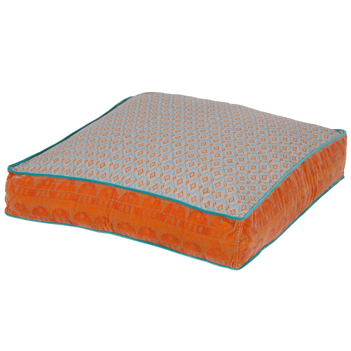 Large Festival Floor Cushion in Orange by The French Bedroom ...