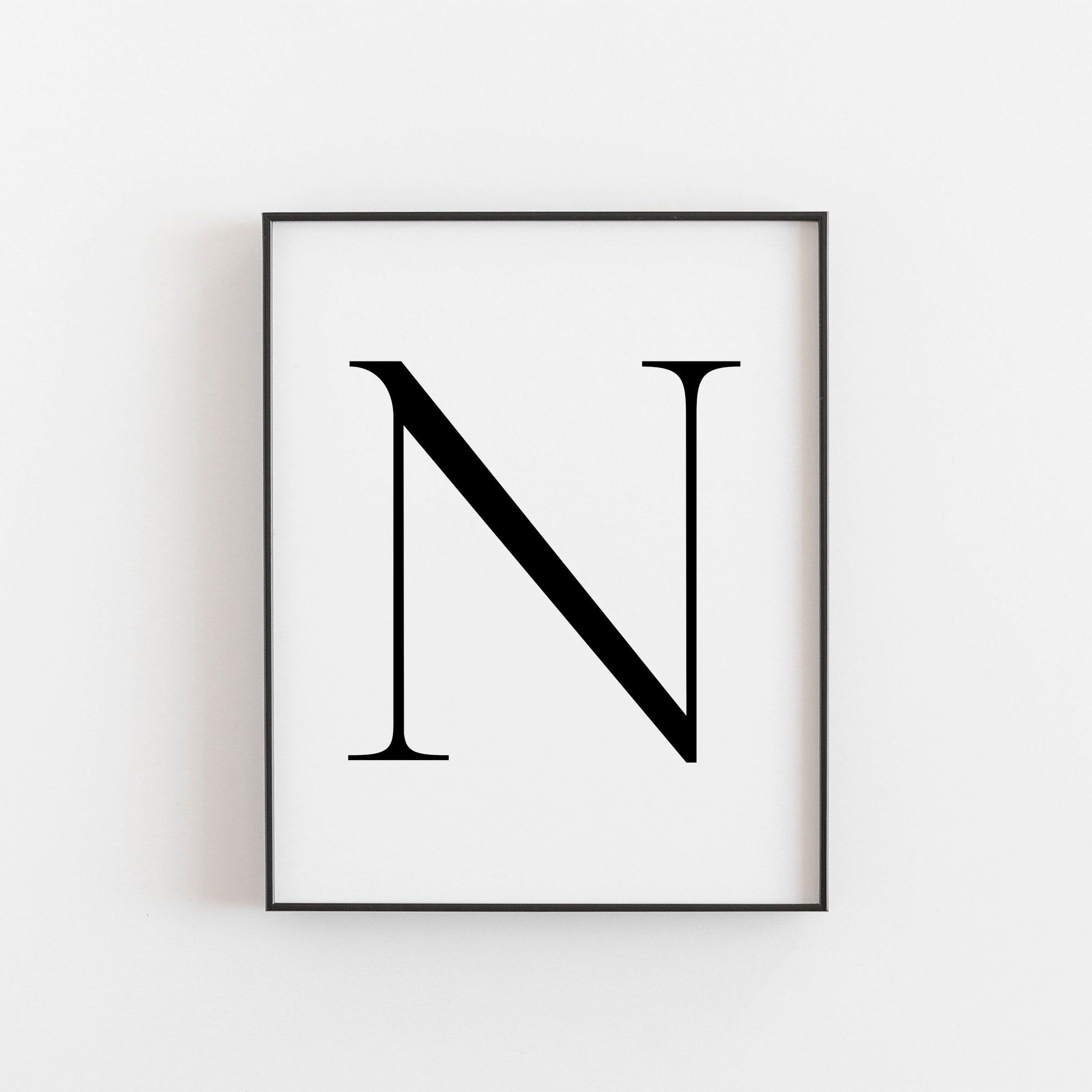 Letter N Wall Decor Letter N Print Letter N Poster Letter N Wall Art Letter N Sign Letter N Monogram Letter N Nursery Decor Initial N Scandinavian Print Nordic Print Minimalist